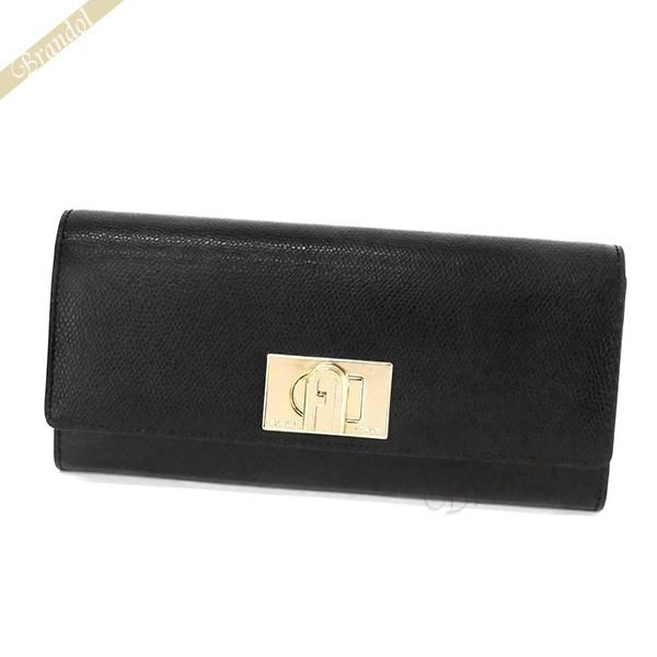 フルラ レディース 長財布 1927 バイフォールド レザー ウォレット ブラック PCV0 ARE O60 / 1048697 | ブランド 母の日 普段使い