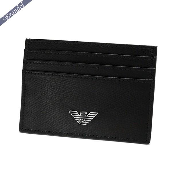 エンポリオアルマーニ メンズ カードケース イーグルロゴ 薄型 カード入れ ブラック YEM320 YAQ2E 81072