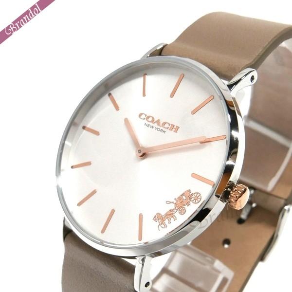 コーチ レディース腕時計 Perry ペリー 36mm シルバー×グレーベージュ 14503119 【xcp2】