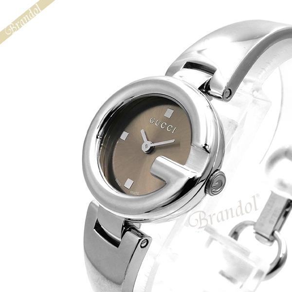 《1300円OFFクーポン対象!5/6(水)23:59まで》グッチ レディース腕時計 Guccissima インターロッキングG バングルウォッチ 27mm ブラウン×シルバー YA134503 | ブランド 母の日 普段使い