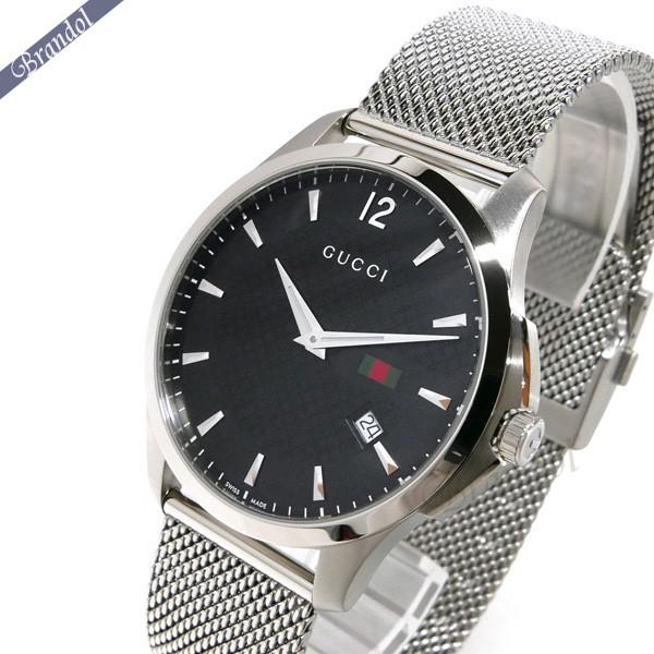 《800円OFFクーポン対象!8/16(日)23:59まで》グッチ GUCCI メンズ腕時計 Gタイムレス G-Timeless 40mm ブラック×シルバー YA126308 | ブランド