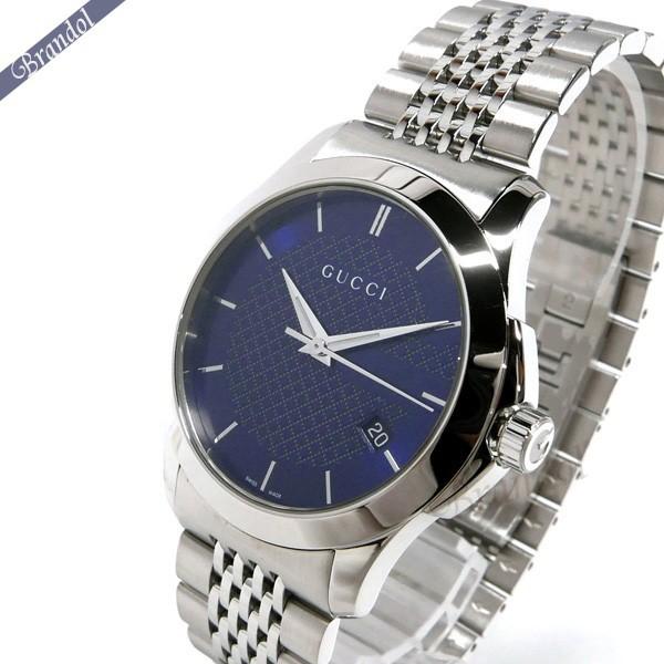 グッチ メンズ腕時計 Gタイムレス G-Timeless 40mm ネイビー×シルバー YA126481 【ブランド】
