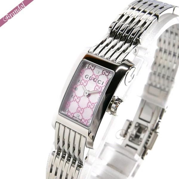 《最大1500円クーポン配布中! 7/26 01:59まで》グッチ レディース腕時計 Gメトロ G-Metoro レクタングル ピンクシェル×シルバー YA086512