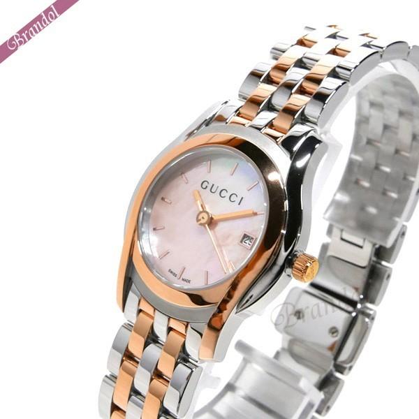 グッチ レディース腕時計 Gクラス G-Class 27mm ピンクシェル×シルバー×ピンクゴールド YA055539 【ブランド】
