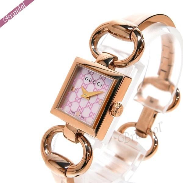 グッチ レディース腕時計 トルナヴォーニ Tornabuoni バングルウォッチ ピンクシェル×ピンクゴールド YA120520 【ブランド】