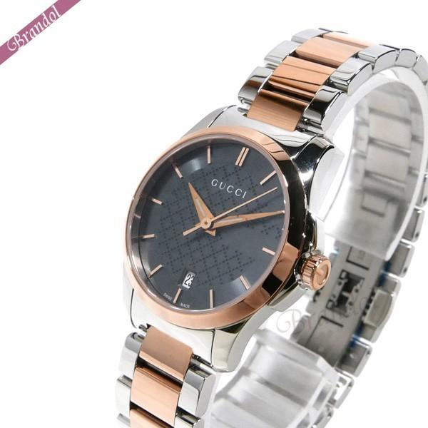 グッチ レディース腕時計 Gタイムレス G-Timeless 27mm グレー×シルバー×ピンクゴールド YA126527 【ブランド】