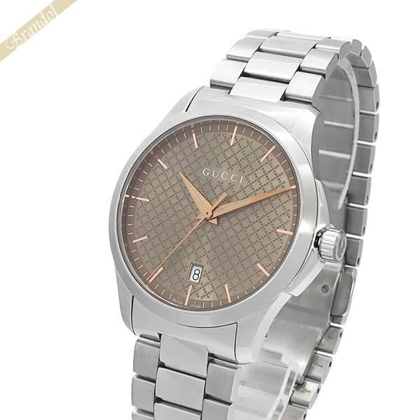 グッチ メンズ腕時計 Gタイムレス G-Timeless 40mm ブラウン×シルバー YA1264053 【ブランド】