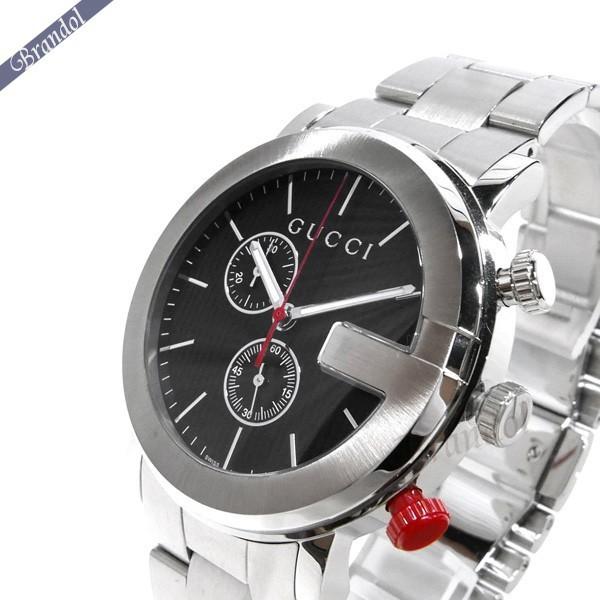 《1000円OFFクーポン対象!1/6 23:59まで》グッチ メンズ腕時計 Gクロノ G-Chrono クロノグラフ 44mm ブラック×シルバー YA101361