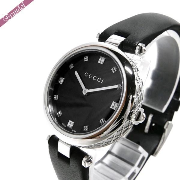 《全品ポイント3倍!5時間限定!7/22(水)23:59まで》グッチ GUCCI レディース腕時計 ディアマンティッシマ Diamantissima 32mm ブラック YA141403 | ブランド