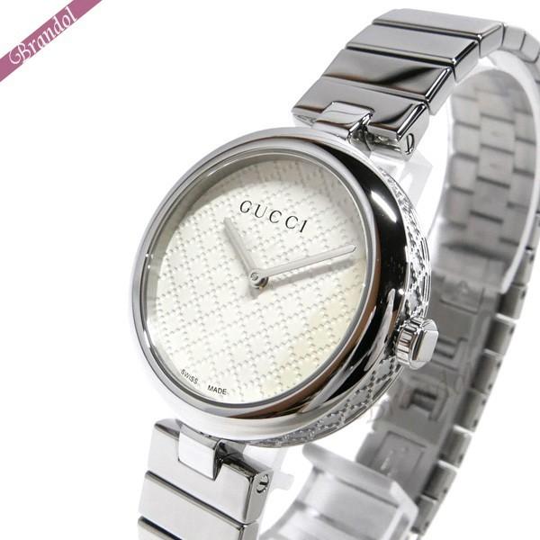 グッチ レディース腕時計 ディアマンティッシマ Diamantissima 32mm ホワイト×シルバー YA141402 【ブランド】