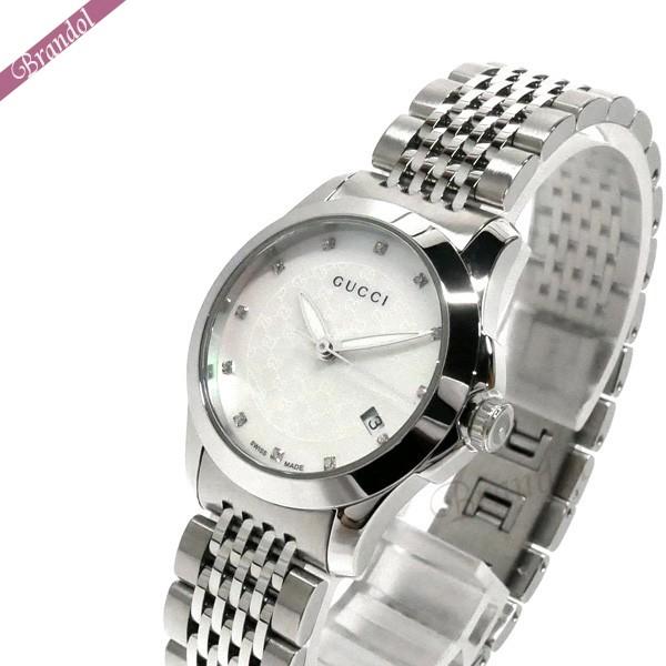 グッチ レディース腕時計 Gタイムレス G-Timeless 27mm ホワイトーパール×シルバー YA126535