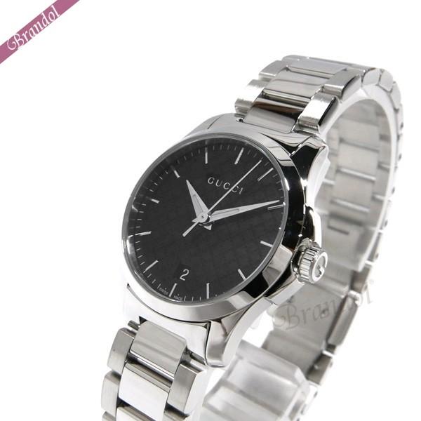 グッチ レディース腕時計 Gタイムレス G-Timeless 28mm ブラック×シルバー YA126592