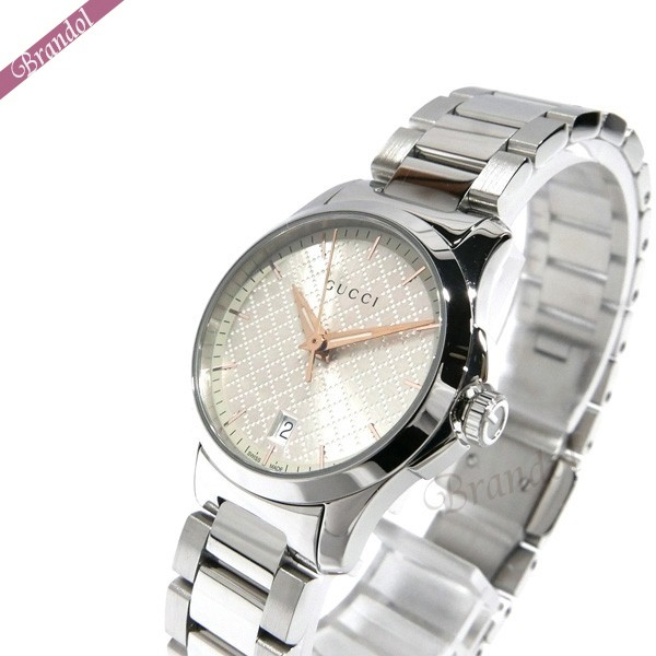 《1300円OFFクーポン対象!5/6(水)23:59まで》グッチ レディース腕時計 Gタイムレス G-Timeless 28mm シルバー YA126593 | ブランド 母の日 普段使い