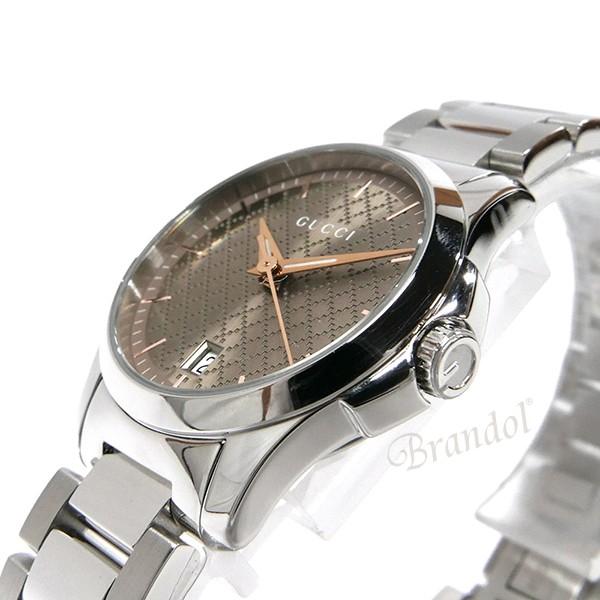 グッチ レディース腕時計 Gタイムレス G-Timeless 28mm ブラウン×シルバー YA126594 【xcp2】