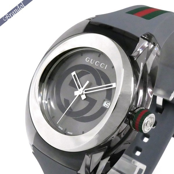 《1000円OFFクーポン対象!1/6 23:59まで》グッチ メンズ腕時計 SYNC グッチシンク 46mm グレー YA137109A