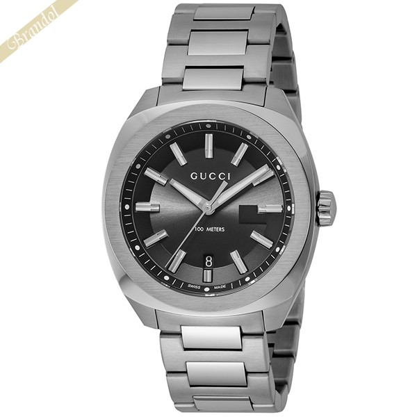 《1300円OFFクーポン対象!5/6(水)23:59まで》グッチ メンズ腕時計 GG2570 40mm ブラック×シルバー YA142301