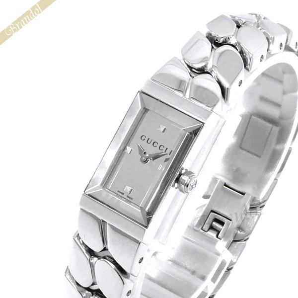 《800円OFFクーポン対象!8/16(日)23:59まで》グッチ GUCCI レディース腕時計 Gフレーム G-Frame シルバー YA147501 | ブランド
