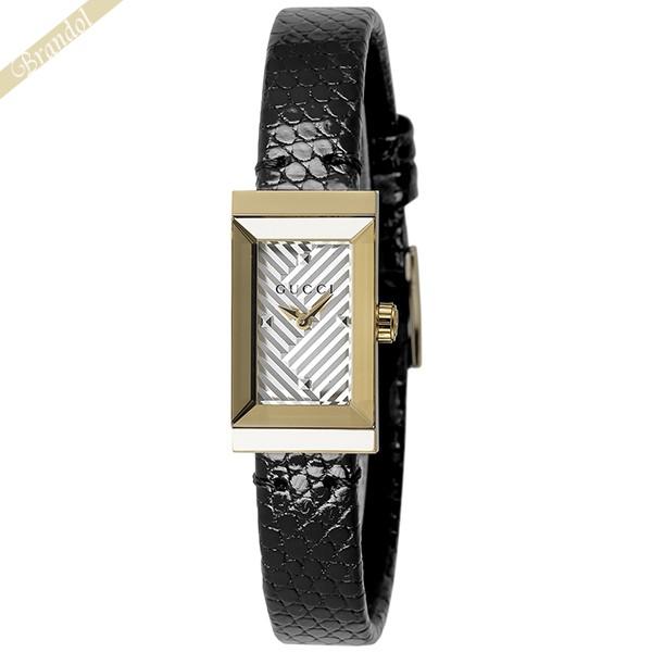《1300円OFFクーポン対象!5/6(水)23:59まで》グッチ レディース腕時計 Gフレーム G-Frame ゴールド×ブラック YA147507 | ブランド 母の日 普段使い