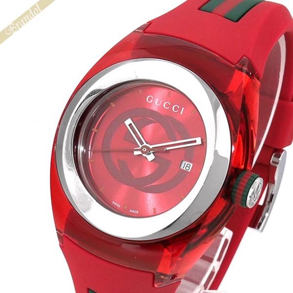 《800円OFFクーポン対象!8/16(日)23:59まで》グッチ GUCCI メンズ腕時計 SYNC グッチ GUCCI GUCCIシンク 36mm レッド YA137303 | ブランド