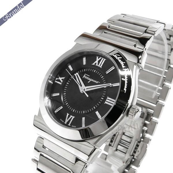 《1000円OFFクーポン対象!1/6 23:59まで》フェラガモ メンズ腕時計 Vega ベガ 37mm ブラック×シルバー FI0940015