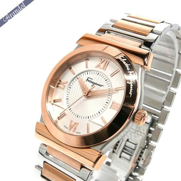 36af1c6eca フェラガモメンズ腕時計Vegaベガ37mmシルバー×ローズゴールドFI0890016【ブランド】 ...