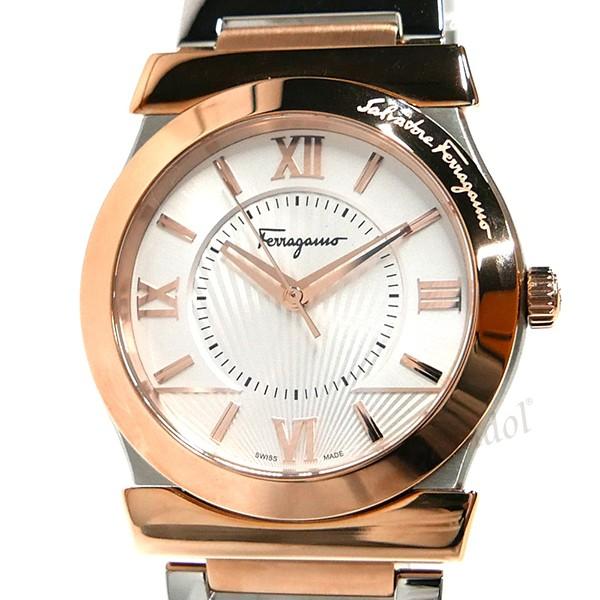 cb8b2ea83b ... フェラガモメンズ腕時計Vegaベガ37mmシルバー×ローズゴールドFI0890016【ブランド】 ...
