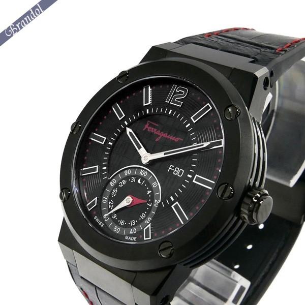《1300円OFFクーポン対象!5/6(水)23:59まで》フェラガモ メンズ腕時計 F-80 MOTION スマートウォッチ 44mm ブラック×レッド FAZ020016
