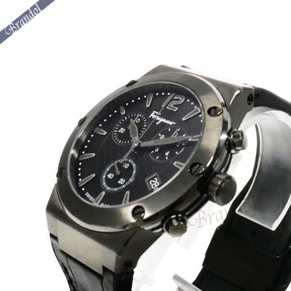 《800円OFFクーポン対象!8/16(日)23:59まで》フェラガモ Ferragamo メンズ腕時計 F-80 クロノグラフ 44m オールブラック FIJ030017 | ブランド