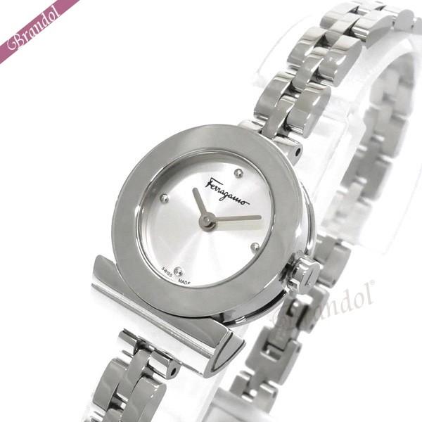 《1000円OFFクーポン対象!1/6 23:59まで》フェラガモ レディース腕時計 Gancino ガンチーニ ブレスレット 22mm シルバー FBF010016