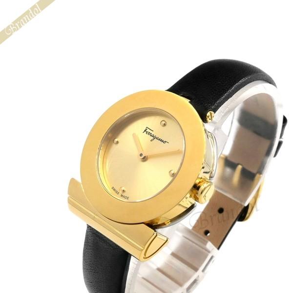 《1300円OFFクーポン対象!5/6(水)23:59まで》フェラガモ レディース腕時計 Gancino ガンチーノ 27mm ゴールド×ブラック SFPD01719 | ブランド 母の日 普段使い
