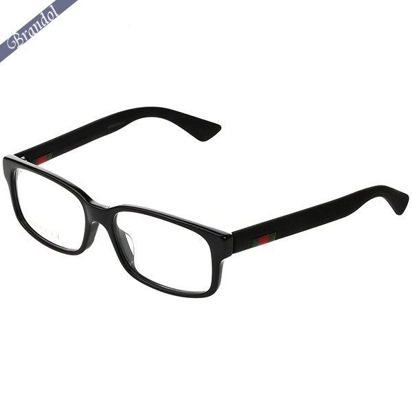 《2000円OFF!GUCCIアイウェア全品対象!5/16(土)01:59まで》グッチ GUCCI メンズ メガネフレーム スクエア型 セルフレーム ウェブモチーフ ブラック GG0012OA-001   ブランド