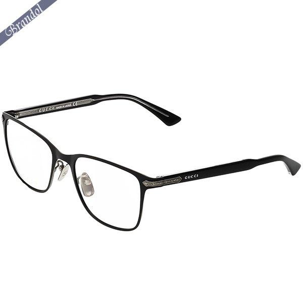 グッチ メンズ メガネフレーム スクエア型 セルフレーム ブラック GG0070O-001