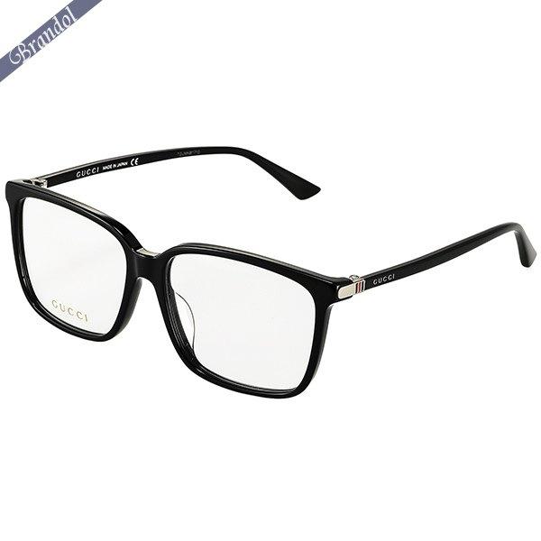 グッチ メンズ メガネフレーム スクエア型 セルフレーム ブラック GG0019OA-001
