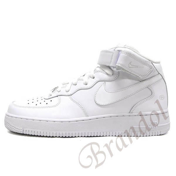 Nike men sneakers AIR FORCE 1 MID Air Force One white [25.5 27.5cm] 315,123 111