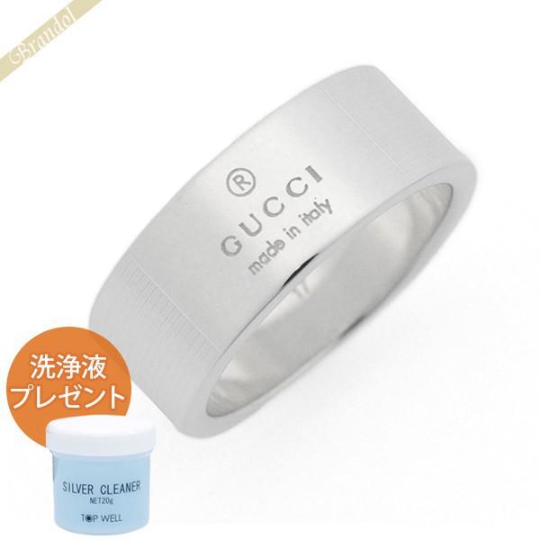 GUCCI グッチ 指輪 シンプル ロゴ リング メンズ レディース [10号 / 11号 / 12号 / 13号 / 14号 / 15号 / 16号 / 18号 / 23号]シルバー 163179 J8400 8106 10 | ブランド 母の日 普段使い