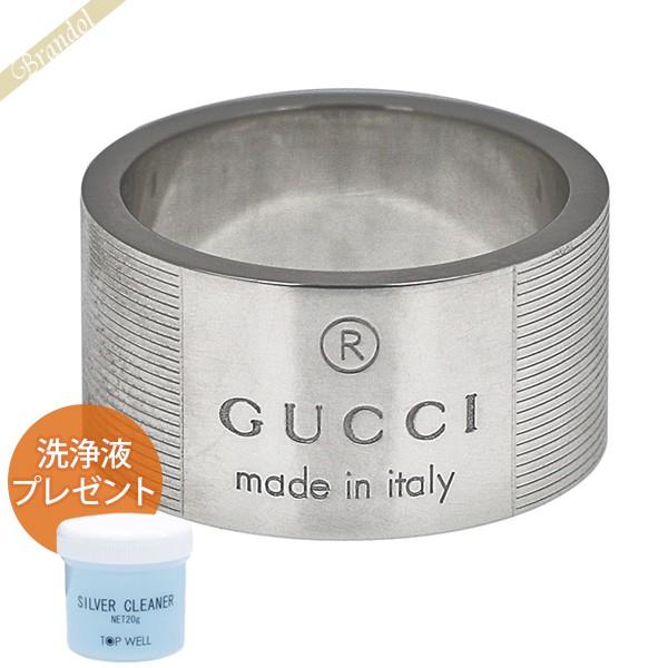 GUCCI グッチ 指輪 シンプル ロゴ リング メンズ レディース [11号 / 12号 / 14号 / 16号 / 20号 / 22号 / 24号] シルバー 163197 J8400 8106 11 | ブランド 母の日 普段使い