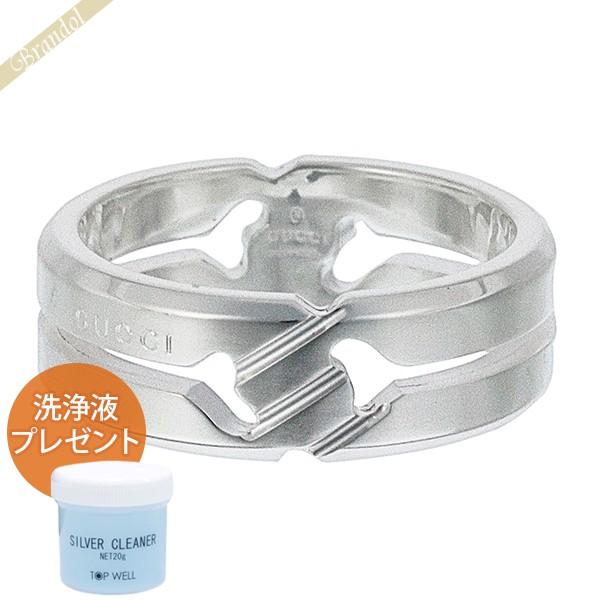 送料無料 GUCCI ユニセックス 店内全品対象 指輪 Silver925 アクセサリー シルバー洗浄液プレゼント グッチ ノットリング リング メンズ シルバー J8400 いつでも送料無料 8106 ブランド 314011