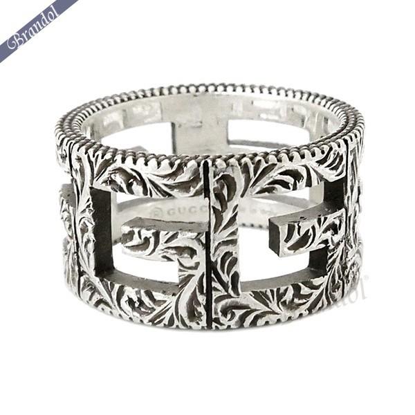グッチ 指輪 メンズ リング スクエアG シルバーリング 551918 J8400 0811 | ブランド 母の日 普段使い
