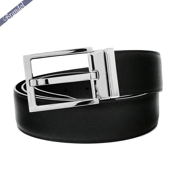 フェラガモ メンズ ベルト メンズ レザー リバーシブル フリーサイズ ブラック×ブラウン 67 9301 0675158