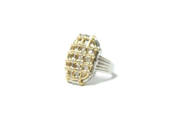 K18/P900 골드/백금 다이아몬드 링 1.22 ct