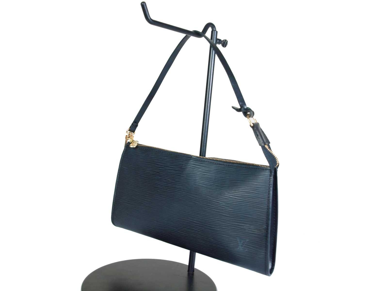 -Louis Vuitton- ルイヴィトン Pochette Accessoires Epi エピ ポシェット アクセソワール アクセサリー ポーチ ハンドバッグ【ブラック】【レディース】【中古】
