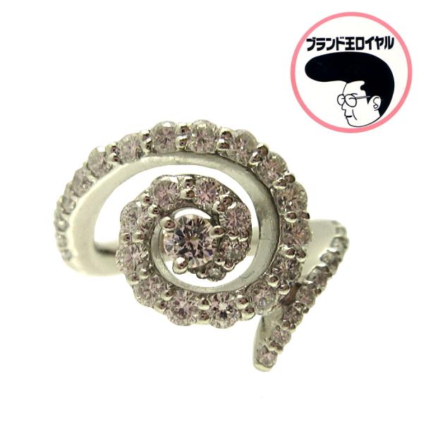 合計1ctのダイヤモンドを使用した スパイラルデザインのダイヤモンドリング PT900 永遠の定番 スパイラルデザイン 1ct プラチナダイヤリング 国内正規品