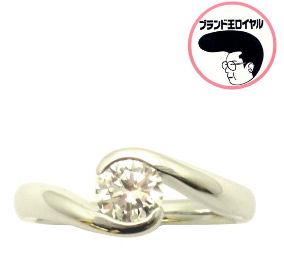 上品な一粒ダイヤモンド お洒落 予約 華奢なデザインで指もとを美しく PTプラチナ ダイヤリング 0.491ct VVS2 Gカラー 婚約指輪に GOOD