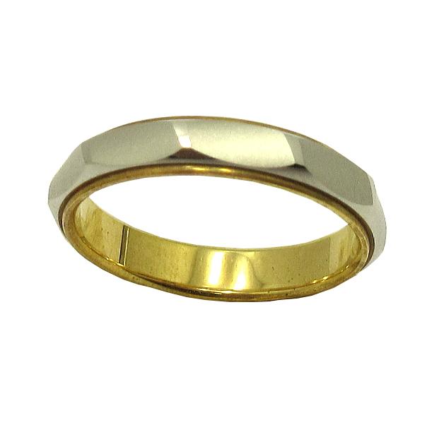 同シリーズのレディースタイプとペアでお使い頂けます PT K18YG ブランド買うならブランドオフ プラチナ K18イエローゴールド 結婚指輪に マリッジリング ふるさと割 メンズ コンビ