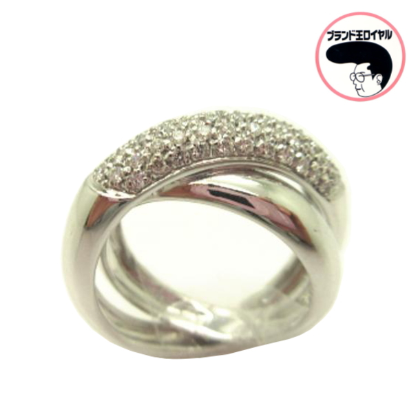 高級イタリアンジュエリー 上品な指輪です イタリアンジュエリー SALE K18WG 本日の目玉 ダイヤリング ホワイトゴールド