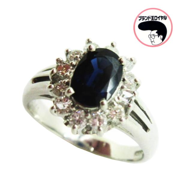 プラチナ ダイヤ サファイヤの透き通る輝き ダイヤモンドリング PTサファイア 9月の誕生石 流行 人気商品