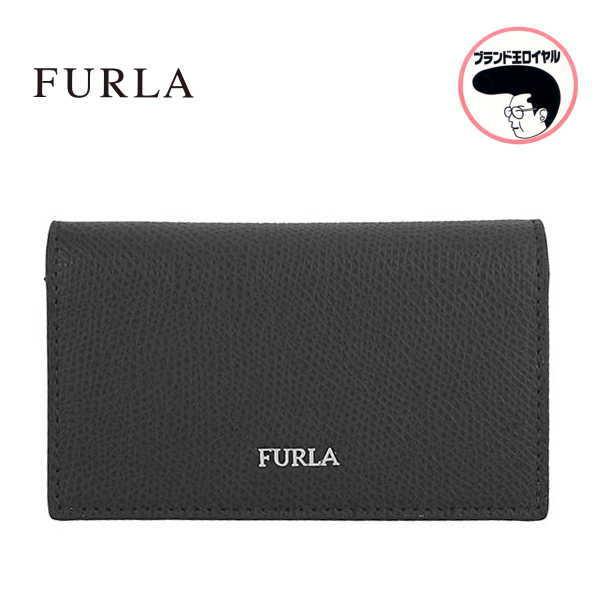 FURLA フルラ 名刺入れ カードケース BK 黒【中古】未使用