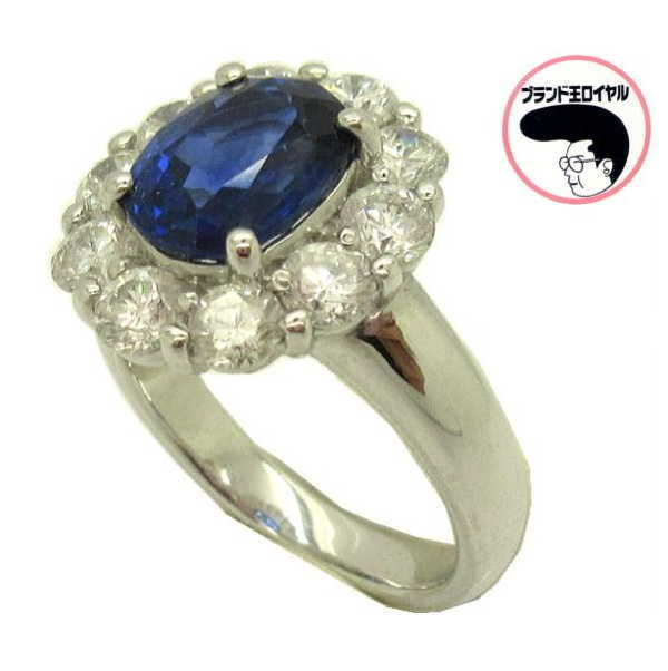 PTプラチナ サファイア リング サファイヤ2.47ct ダイヤモンド1.39ct