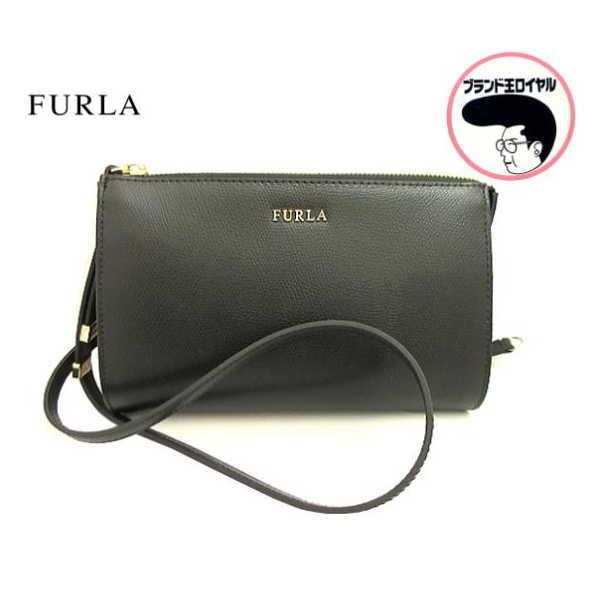 当店限定販売 人気の斜め掛けショルダーバッグ 中古 日本製 未使用品 FURLA ブラック フルラ ショルダーバッグ