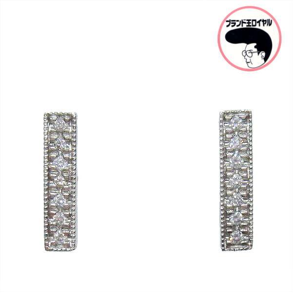 知的で上品なデザイン プレゼント包装無料 ダイヤモンドピアス 2020 新作 超歓迎された Pt900 ジュエリー プラチナ ダイヤ0.12ct